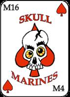 das logo der skull marines